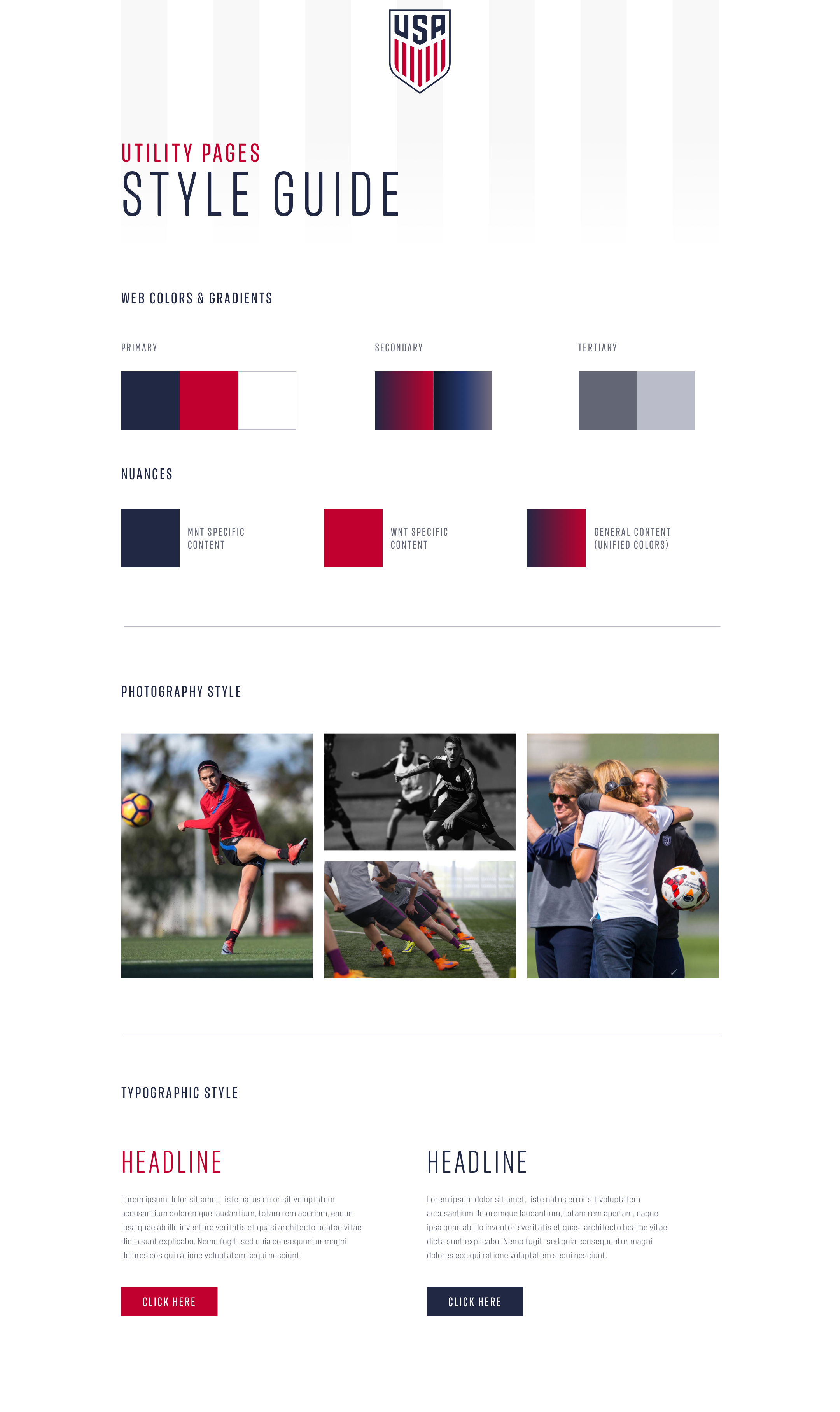 US Soccer Website Concept - Nick Barry – Branding and