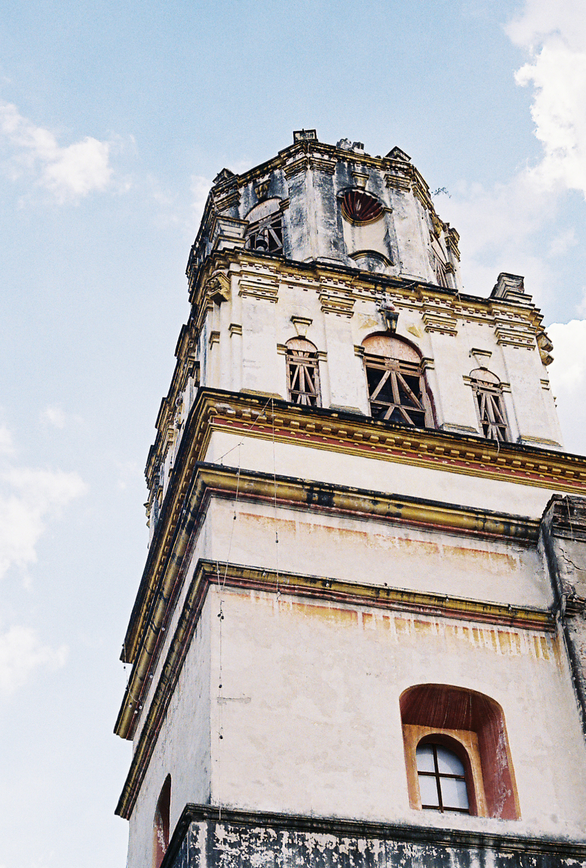 An old but beautiful church tower in the Coyoacán district of Mexico City. Photographer Nick Barry